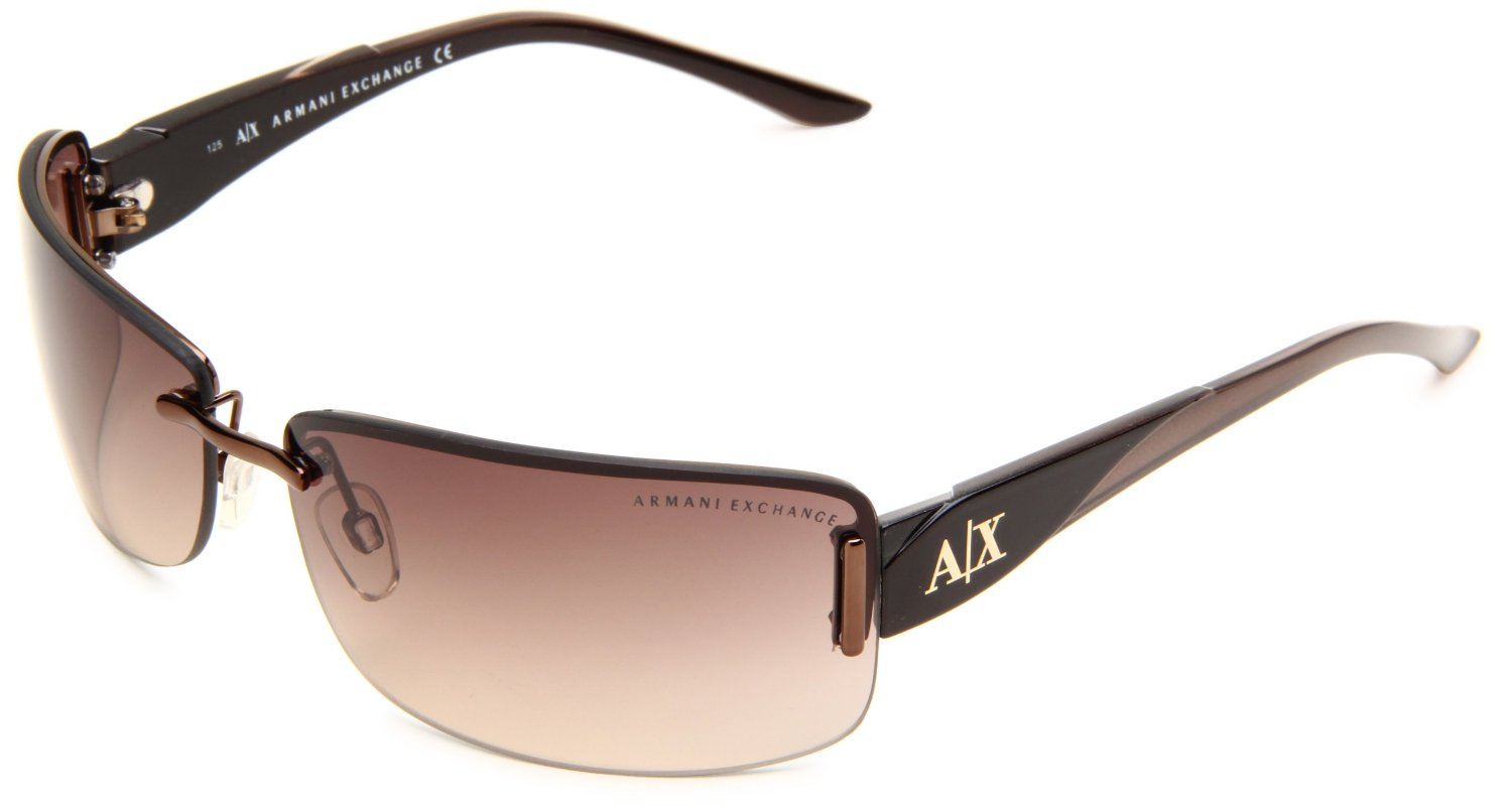 Armani Exchange Ax188s Rimless Sunglasses in Brown for Men ...