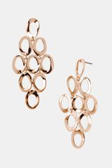 Ippolita Rosé Open Oval Cascade Earrings - Lyst