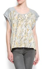 Mango Animal Print T-shirt - Lyst