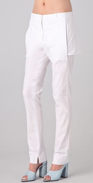 3.1 Phillip Lim Slim Leg Trouser with Back Panel - Lyst