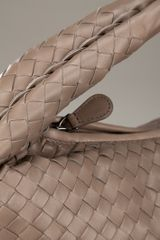 Bottega Veneta Woven Leather Bag in Brown - Lyst