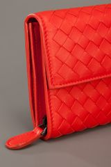 Bottega Veneta Woven Clutch in Orange - Lyst