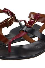 Burberry Leather Buckle Gladiator Sandals - Lyst