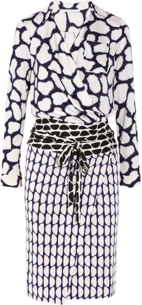 Diane Von Furstenberg Terry Printed Silk Jersey Wrap Dress - Lyst