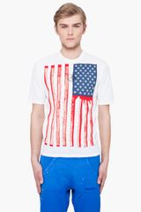 Dsquared2 Hetero Stars Stripes Tshirt in White for Men - Lyst