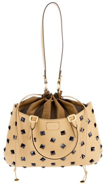 Fendi Bucket Bag in Beige - Lyst