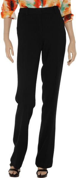 Robert Rodriguez Wideleg Piqué Pants in Black - Lyst