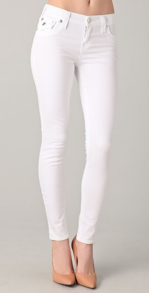True Religion Serena Legging Jeans in White - Lyst