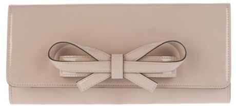 Valentino Bow Detail Clutch in Beige (nude) - Lyst