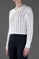 3.1 Phillip Lim Cropped Sweater in White - Lyst