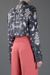 Balmain Long Sleeved Top in Gray (grey) - Lyst