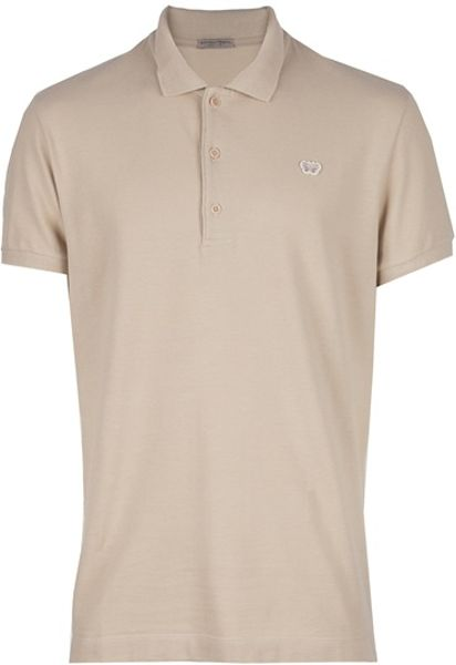 Bottega Veneta Classic Polo in Beige for Men (nude) - Lyst