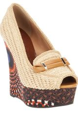 Burberry Prorsum Wedge Shoe in Beige (nude) - Lyst