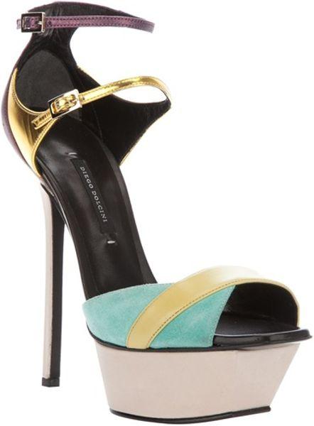 Diego Dolcini Platform Sandal in Multicolor (multi)