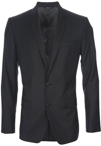 Dolce & Gabbana Two Button Suit in Blue for Men - Lyst