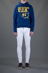 Dsquared2 Hooded Sweater in Blue for Men - Lyst
