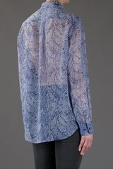 Equipment Python Print Shirt in Blue - Lyst