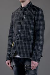 John Galliano Print Jacket in Black for Men - Lyst