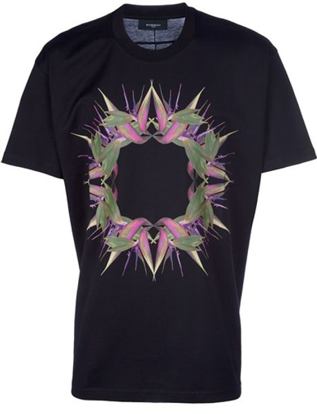 Givenchy Short Sleeve Tshirt in Black for Men - Lyst