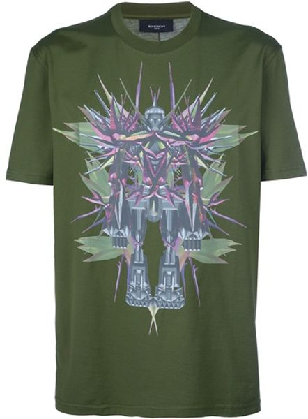 Givenchy Printed Tshirt in Green for Men - Lyst