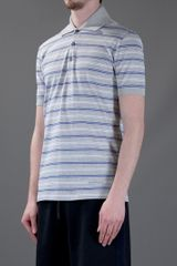 Givenchy Striped Polo Shirt in Blue for Men (grey) - Lyst