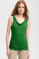 Halogen Sleeveless Drape Neck Top - Lyst