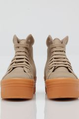 Jeffrey Campbell Homg thick sole sneaker in Beige (nude) - Lyst