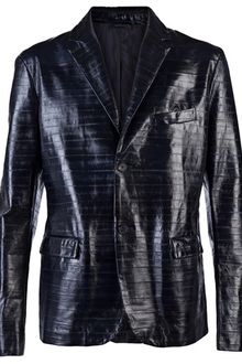 Jil Sander Eel Leather Jacket - Lyst
