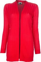 M Missoni Ribbed Cardigan - Lyst