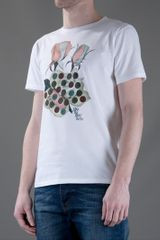 Marc Jacobs Printed Crew Neck Tshirt in White for Men - Lyst