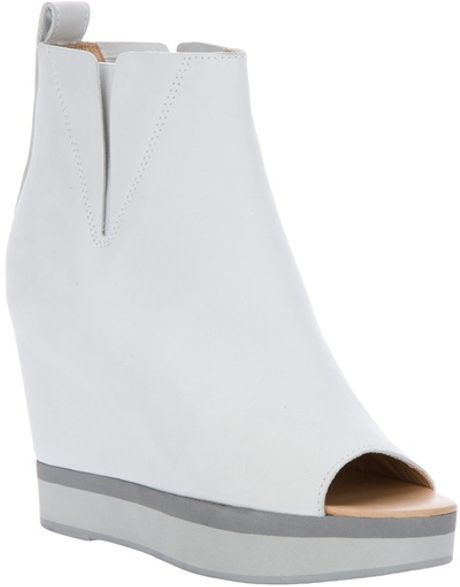 Mm6 By Maison Martin Margiela Wedge Ankle Boot in White - Lyst