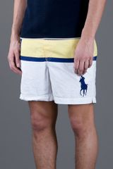 Polo Ralph Lauren Stripe Short in Yellow for Men (white) - Lyst