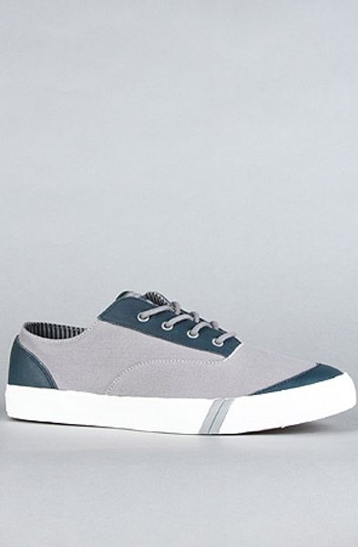 Pro Keds The Royal Cvo Waxed Canvas and Leather Sneaker in Neutral Grey in Gray for Men (grey)
