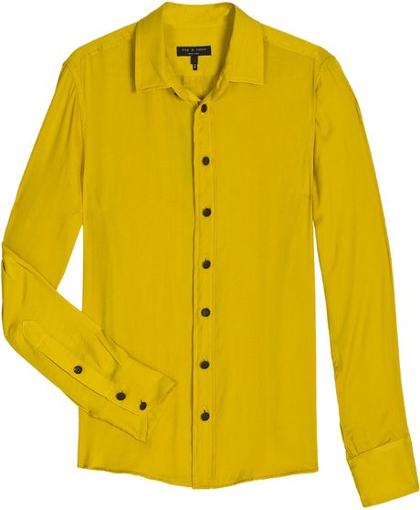 Rag & Bone New 88 Mustard Shirt in Yellow (mustard) - Lyst