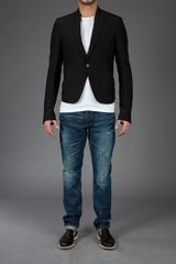 Rick Owens Ribbed Blazer in Black for Men - Lyst