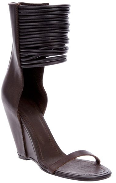 Rick Owens Leather Sandals in Brown - Lyst
