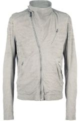 Rick Owens Biker Jacket in Beige for Men (nude) - Lyst