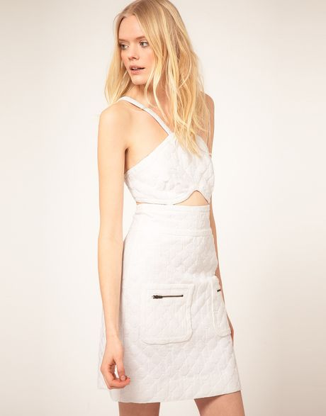 See By Chloé See By Chloe Cut Out Dress in White - Lyst