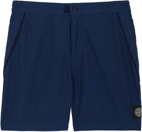 Stone Island Brushed Nylon Beach Short in Blue for Men - Lyst