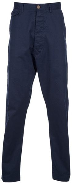 Vivienne Westwood Drop Crotch Chino in Blue for Men (navy) - Lyst