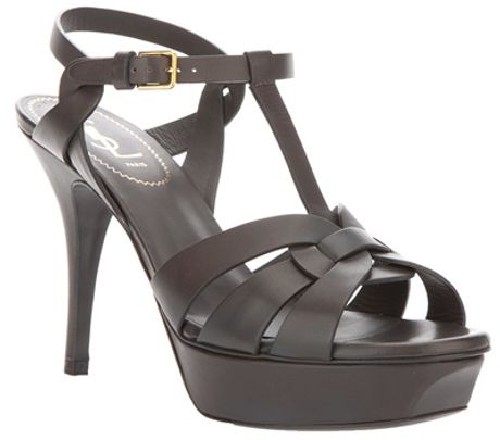 Yves Saint Laurent Tribute Sandal in Gray (grey) - Lyst
