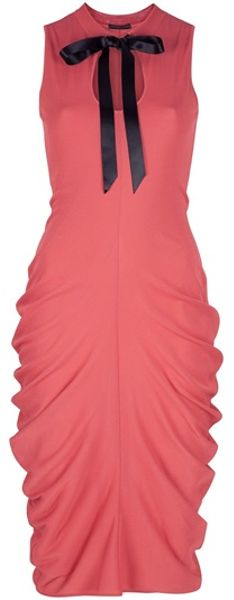 Alexander Mcqueen Sleeveless Dress in Pink (coral) - Lyst