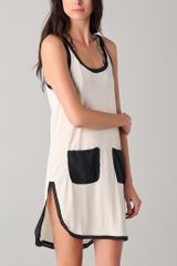 By Malene Birger Elasiu Mini Tank Dress in Beige (black) - Lyst