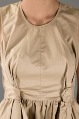 Carven Knot Detail Top in Beige - Lyst