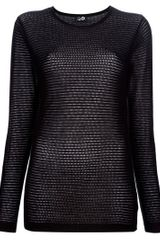 Cheap Monday Iliana Sweater in Black - Lyst