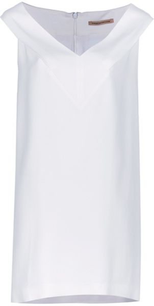 Christopher Kane Simple V Crepe Dress in White - Lyst