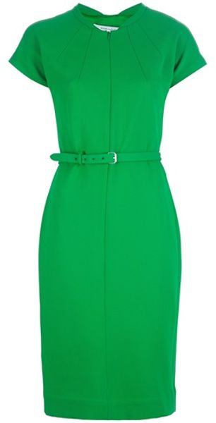 Diane Von Furstenberg Maizah Dress in Green - Lyst