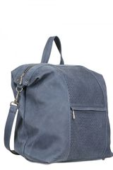Diverso Italiano Greasy Perforated Leather Bag in Gray for Men (grey) - Lyst