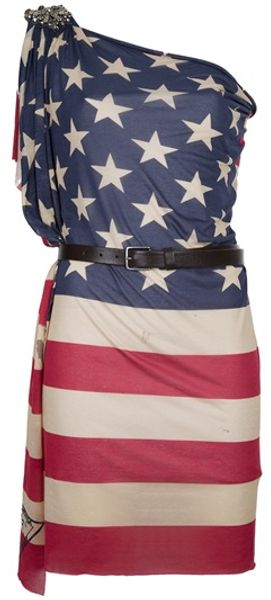 DSquared2 American Flag Dress - Lyst