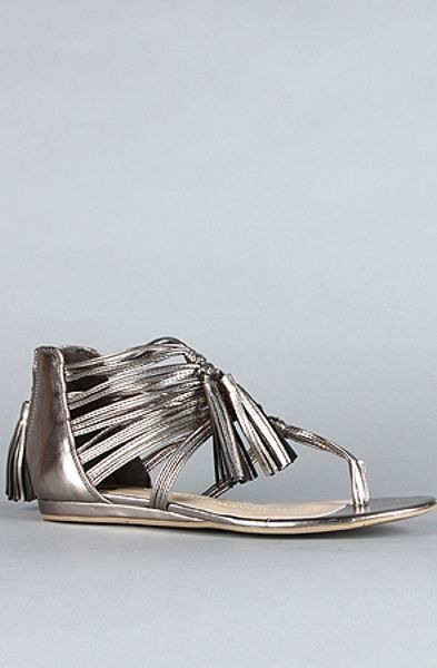 Dv By Dolce Vita The Ilana Sandal in Dark Silver Flash Stella in Silver - Lyst